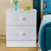 LASUAVY Bedside Table, Wood End Table/Simple Night Stand, White